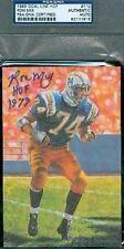 Ron Mix Signed Glac Goal Line Art Card Psa/dna Autograph Authentic