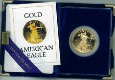 3 1987-W American Eagle Gold Proof $50 Coin w/COA & Box Reduced! Sell Today. LOW