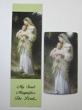 Magnificat Bookmark and Madonna & Child with Lamb Magnet