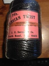 BLACK PERSIAN TWIST MACRAME TWISTED CRAFT CORD 90 Yards NEW