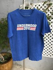 UNDERWOOD HOUSE OF CARDS 2016 Blue Red White Tee T Shirt Sz Large