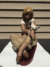 Lladro® Watching The Dove Porcelain Figurine Hand Made 1982