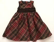 Baby Gap Brown And Red Plaid Holiday Special Occasion Dress For 2 Year Girl
