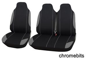 Renault Trafic, Master Seat Covers Grey Comfort Fabric FOR 2+1 VAN