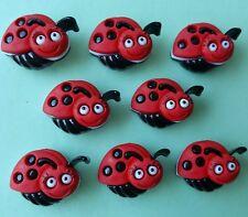 Bug Eyed Ladybird coccinelle insecte Bébé Jardin DRESS IT UP Nouveauté Craft Boutons