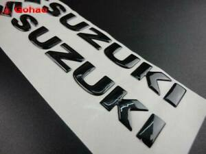 Black 3D Fuel Gas Tank Fairing Emblem Badge Decal For Suzuki Racing Motorcycle