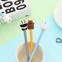 3 pcs Cartoon Bear Student Stationery Gift Black Ink 0.38 mm Advertising Gel Pen