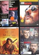 Leon: The Professional / Heist / Ghostwriter / Last of the Mohicans Dvd Lot