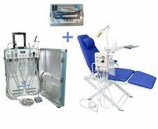 Portable Dental Unit With Air Compressor Dental Chair Handpiece Kit 4 Hole