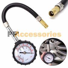 Premium Flexible Hose Truck Car Tire Pressure Gauge 0-100 PSI Air Meter Tester