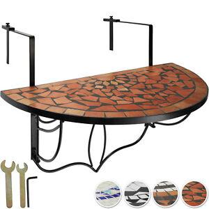 Tavolino da Balcone Mosaico a Ribalta Terrazza Tavolino Parete Pieghevole Nuovo