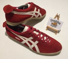 Asics Onitsuka Tiger Mexico Delegation 66 D601L-2199 Red Suede Trainers UK 11
