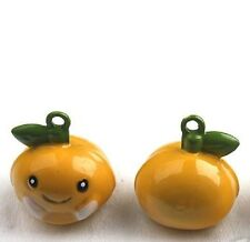 Dog collar bell charm / Is your dog your little peach / Ring attached LOUD