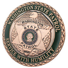 Washington State Patrol / WSP Antique Copper Plated Challenge coin 5020#