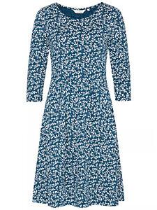 Seasalt ladies dress size 10 12 14 16 blue Heart Stem The Mouls Dress II stretch