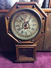 Gilbert School House Regulator Calendar Clock 1890s Works Chimes Ansonia Dial