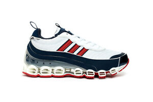 adidas Originals Microbounce T1 Bounce in White Navy and Red Mens Trainers