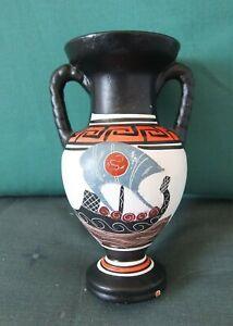 A Vintage Greek Pottery Vase , Good Cond For Age No Damage
