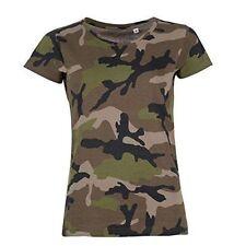 Camouflage Machine Washable Short Sleeve T-Shirts for Women