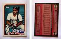 Daryl Boston Signed 1989 Topps #633 Card Chicago White Sox Auto Autograph