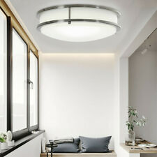 Double Ring Led Flush Mount Ceiling Light Dimmable 14' 120V Lamp Home Fixture U