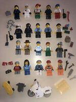 Lego Minifigure Town / City People + Tons Of Accessories - Lot FF