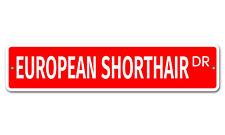 "5943 Ss European Shorthair 4"" x 18"" Novelty Street Sign Aluminum"