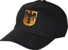 BASEBALLCAP CAP BERRETTO muetze NERO CON STICK Germania Aquila stemma 67041