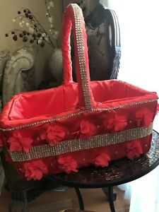 Red Wedding Flower Basket