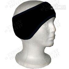 Polar Fleece black Ear Muff Warmer Wrap Head Band unisex
