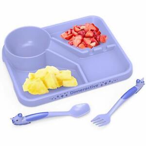 Dinneractive Unicorn Meal Set - 3 PC - Purple - Childrens Plate & Utensils