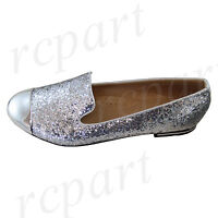 New women's shoes rhinestones ballet flats blink blink wedding casual silver