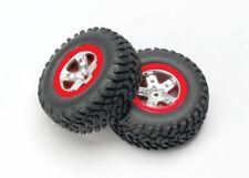 TRAXXAS 5873A Neumáticos BEADLOCK y Círculos Traseros Rojo/TRAXXAS LLANTAS