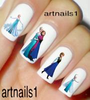 Frozen Disney Nail Elsa Art Water Decals Stickers Manicure Salon Mani Polish !!