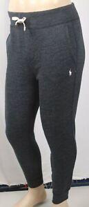 Polo Ralph Lauren Black Fleece Sweatpants Cream Pony Pocket NWT