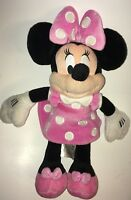 "Disney Store Exclusive Pink And White Minnie Mouse 15"" Plush Stuffed Animal"