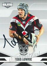 ✺Signed✺ 2013 NEW ZEALAND WARRIORS NRL Card TODD LOWRIE