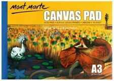 Mont Marte Canvas Pad A3 Sheet - 10 Sheets (CAXX0023)