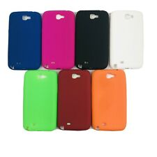 SAMSUNG GALAXY NOTE 2 N7100 SOFT GEL SILICONE RUBBER THIN MULTIPLE COLORS