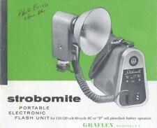 Graflex Strobomite Instruction Manual Original