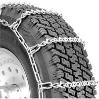 295/75-22.5) (295/75R-22.5 Twist Link Tire Chains 7mm Traction Commercial Truck