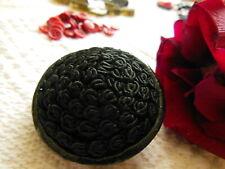 énorme bouton vintage passementerie noir resine 4,3 cm  ref 2623