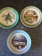Avon Miniature Christmas Plate Collection (1978,79,80.)