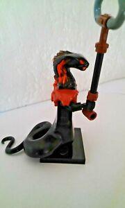 minifig ninjago figurine serpent noir char snake figure translucide  neuf