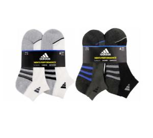 Adidas NWT Mens Performance 6-Pair Low Cut Cushioned Arch Compression Socks