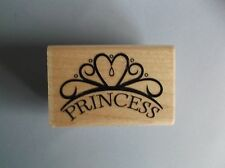 STAMPABILITIES RUBBER STAMPS PRINCESS CROWN NEW wood STAMP last one