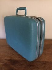 Vintage SAMSONITE Silhouette Hardshell Suitcase Blue Small Overnight Train Case