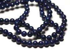 Fil 39cm 67pc env - Perles de Pierre - Jade Boules 6mm Bleu Marine Nuit