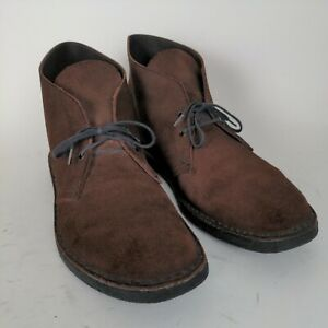 CLARKS 11.5 US (10.5 M UK) Brown Suede Chukka Desert Boots ~ K4 Made in England