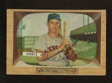 Vic Wertz Signed 1955 Bowman #40 Cleveland Indians Auto